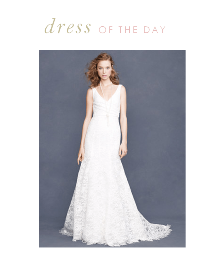 Bridal dress of the day the sara for J crew daphne wedding dress