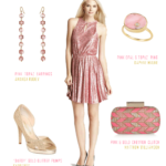 Pink and Gold Glitter Dress