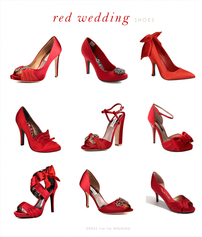 Red Wedding Shoes