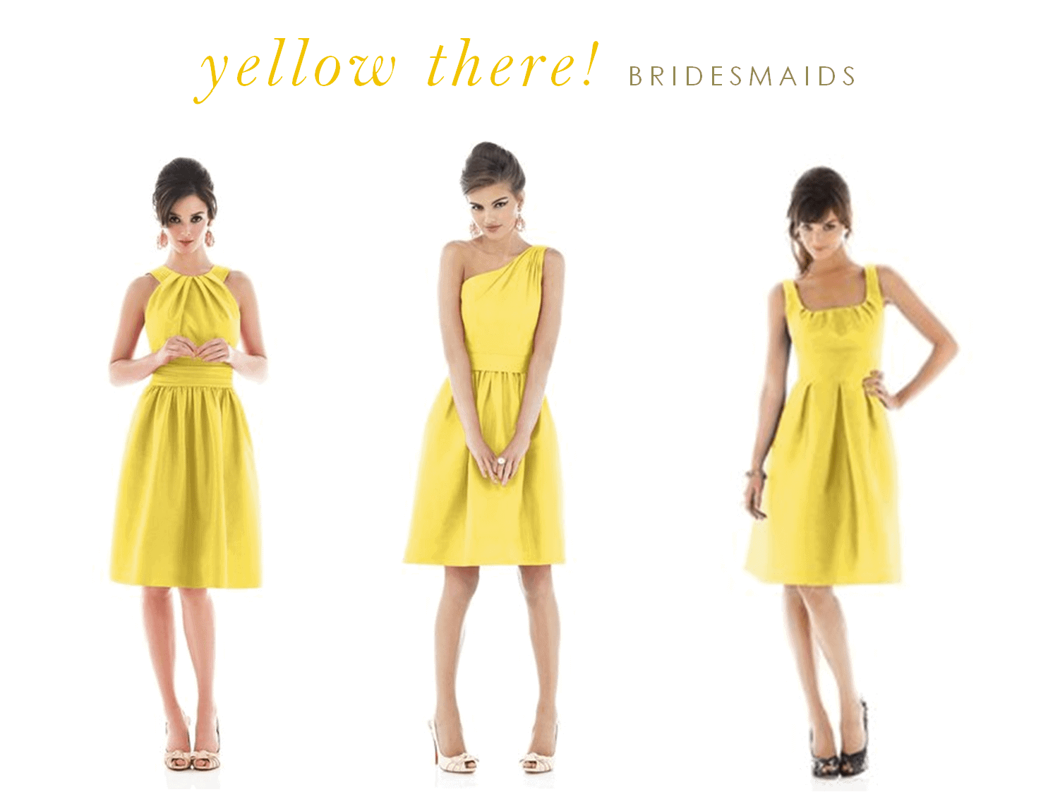 Yellow dresses for bridesmaids and guests for Can a yellowed wedding dress be whitened