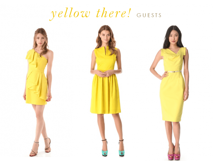 Yellow dresses for bridesmaids and guests for Yellow wedding dresses for sale
