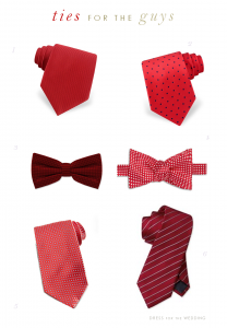 red groomsmen ties