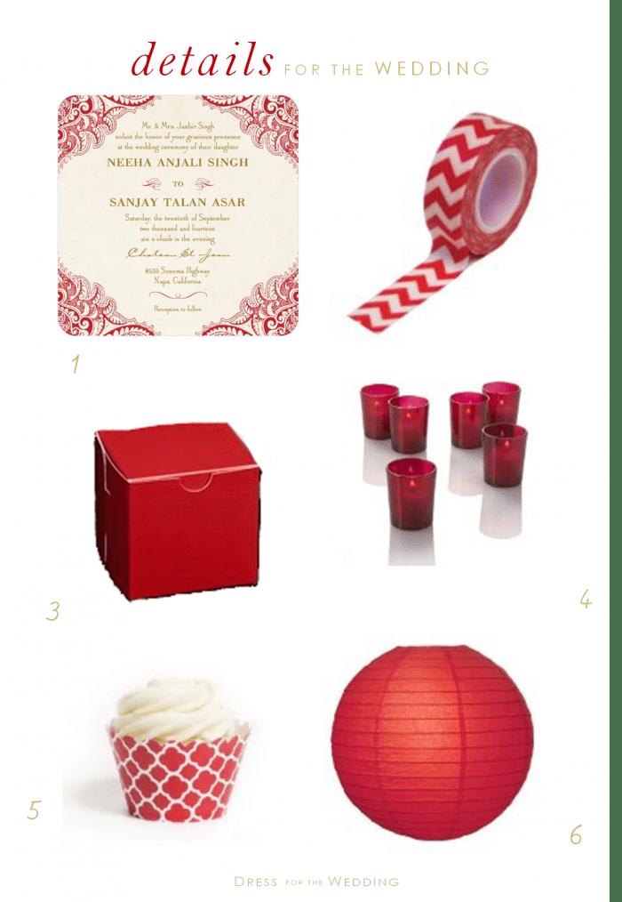 red theme wedding ideas