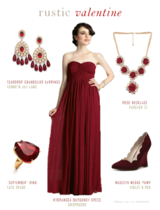 burgundy bridesmaids dress
