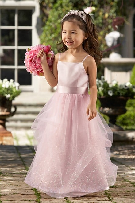 Pink Flower Girls Dress # 44128