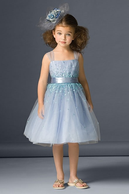 Blue Flower Girls Dress  # 46231