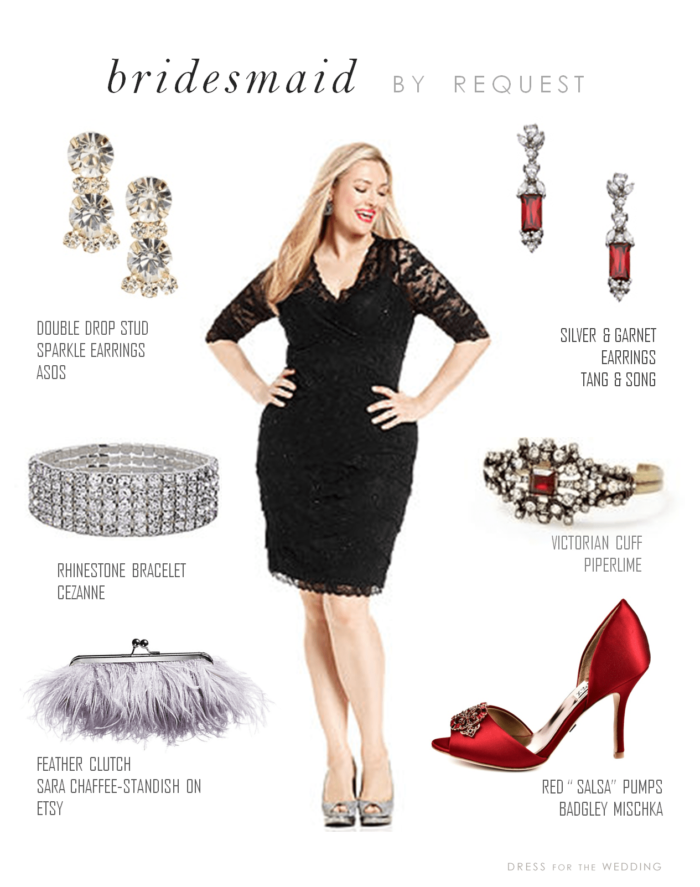 Reader Request Black Cocktail Dress With Red Shoes And Accessories