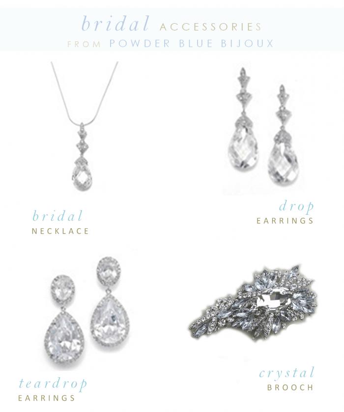 Bridal Accessories From Powder Blue Bijoux