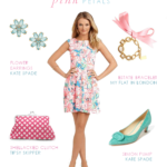 Pink and Blue Floral Dress