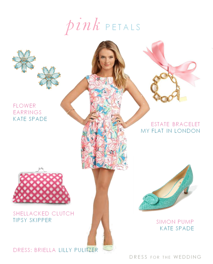 Pink and blue floral dress for Pink and blue wedding dresses