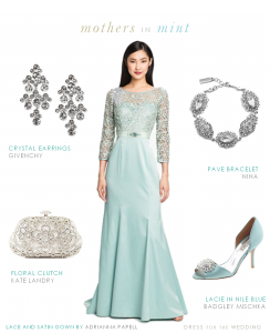 Pale Ice Blue Mother of the Bride Dress