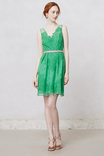Green Dress for Spring Wedding