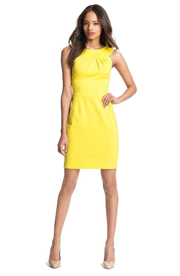 Yellow Dress for Spring Wedding