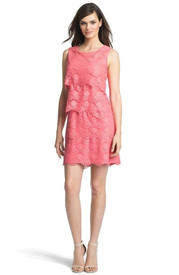 Pink Lace Dress for Daytime Wedding