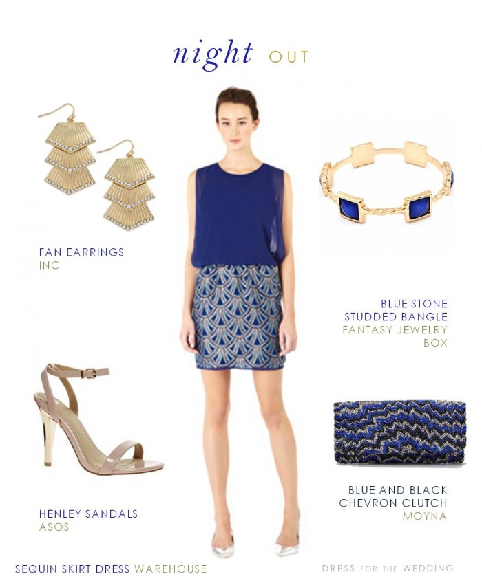 Blue Dress for Bachelorette Party
