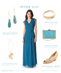 Blue Joanna August Gown for Beach Wedding