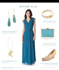 Blue Joanna August Gown for Beach Wedding