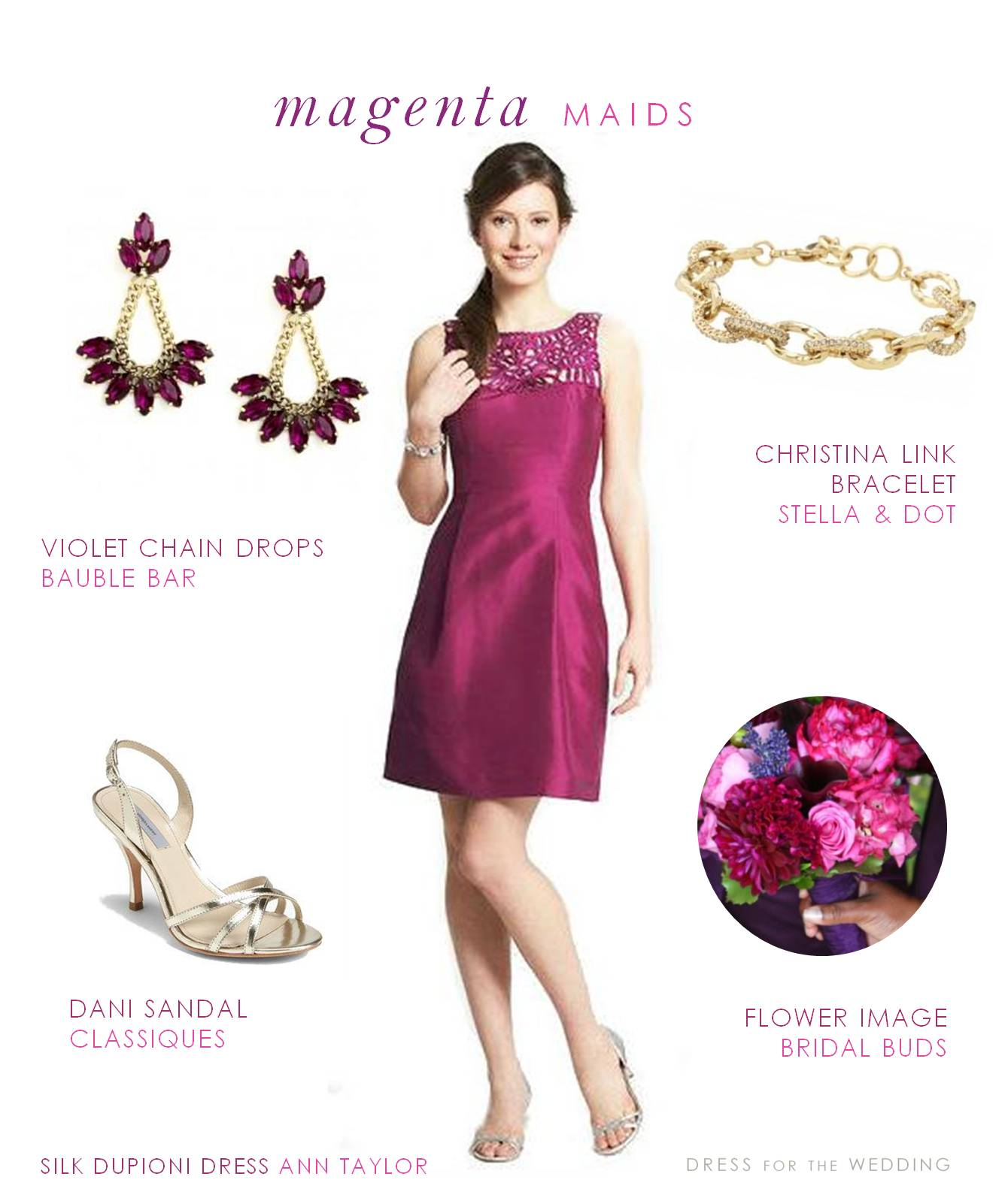 Magenta Bridesmaid Dress