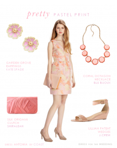 Peach and Pink Floral Dress