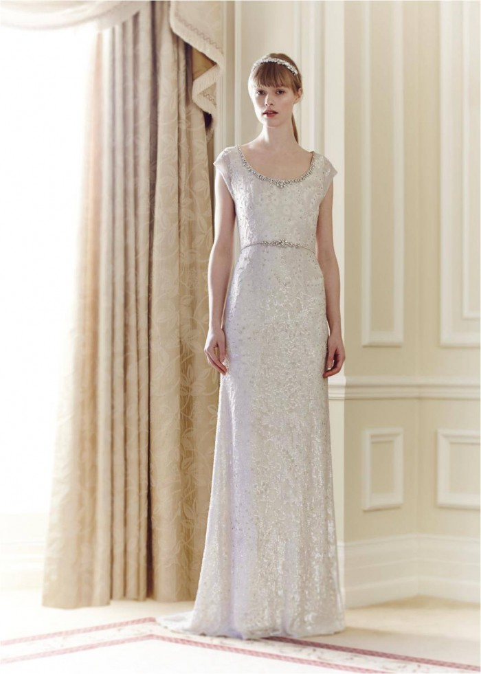 Utopia Jenny Packham beaded and sequined wedding dress