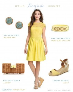 yellow dress for a bridal shower