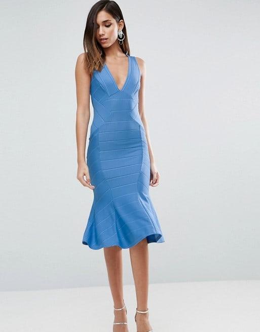 Blue Bandage Dress Under 100