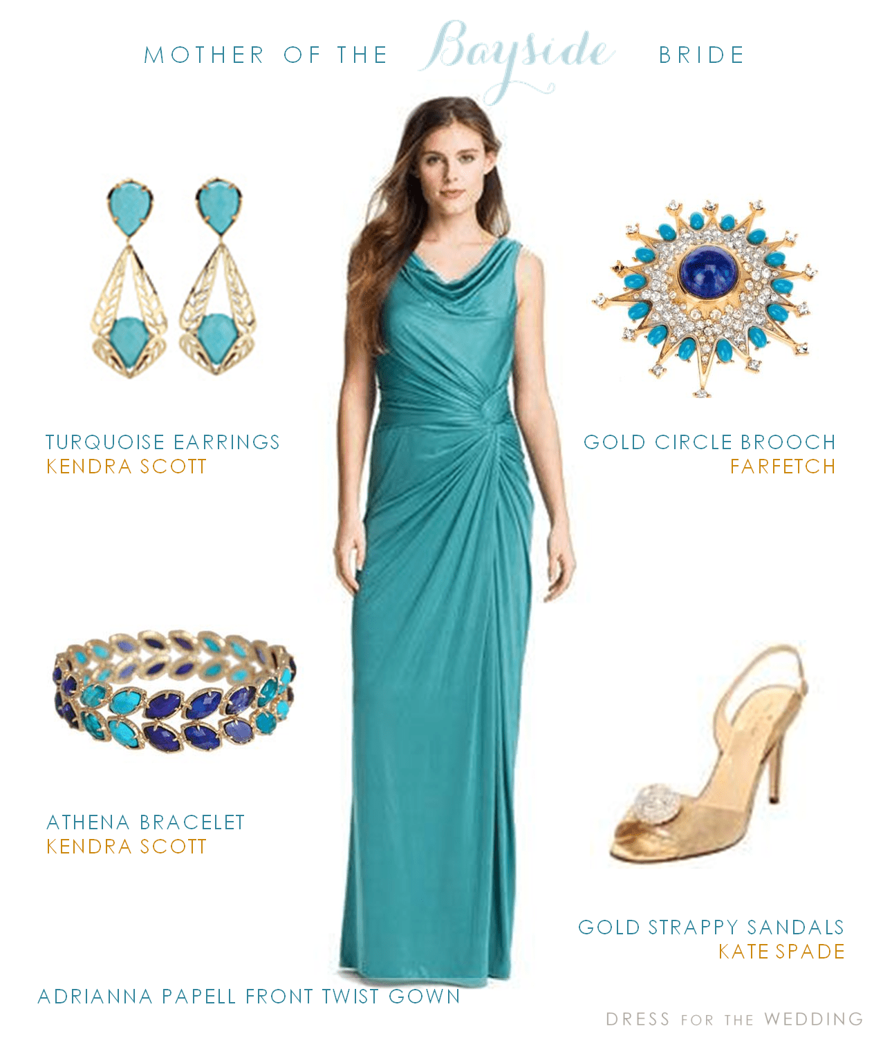 Turquoise Mother of the Bride Dress