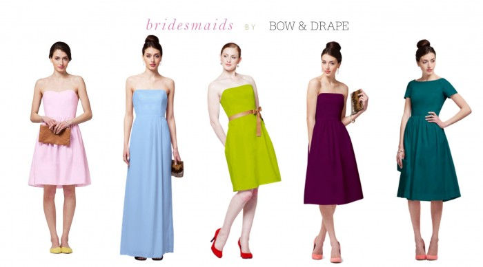 Bridesmaids by Bow and Drape