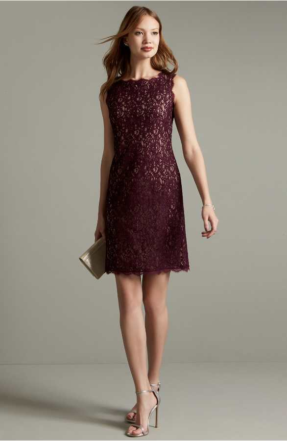 Burgundy Lace Dress Under 150
