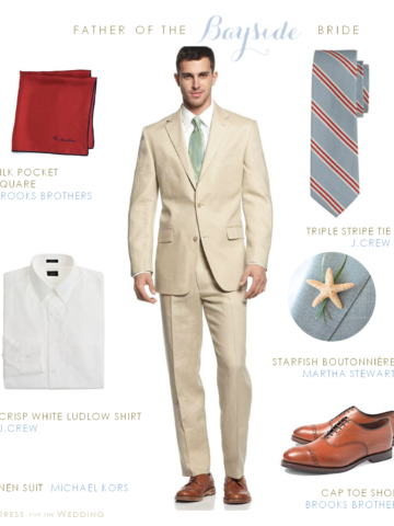 Tan Linen Suit for Grooms and Groomsmen