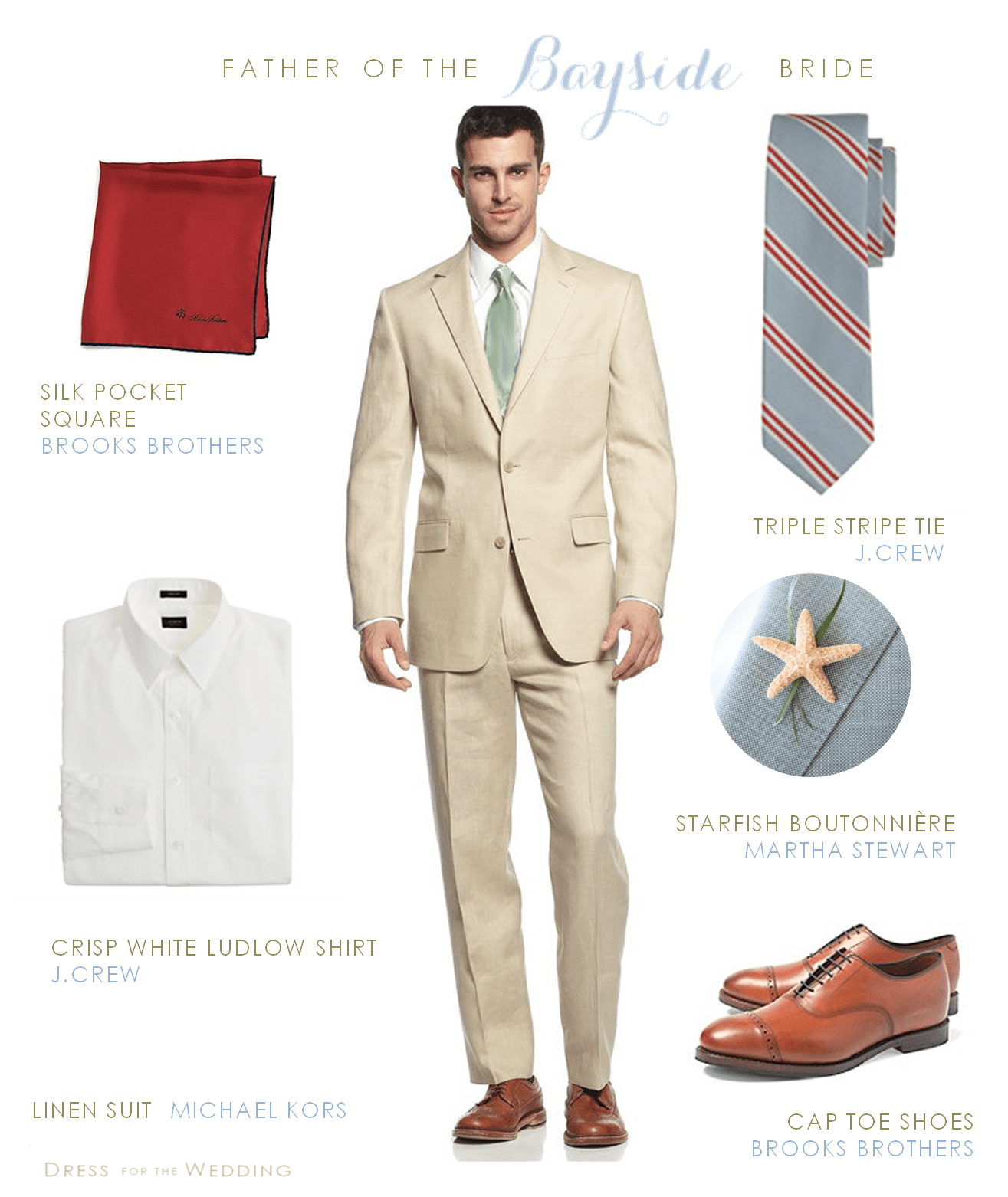 Tan Linen Suit for Grooms and Groomsmen
