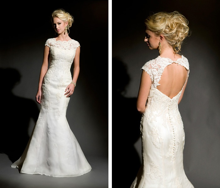 Lace Keyhole Wedding Dress Eco Friendly Gown Eugenia Couture
