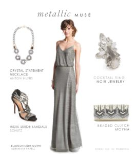 Metallic Dress for a City Wedding
