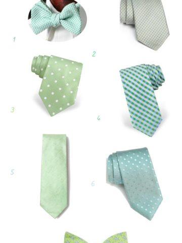 Mint Ties for Weddings for Groomsmen