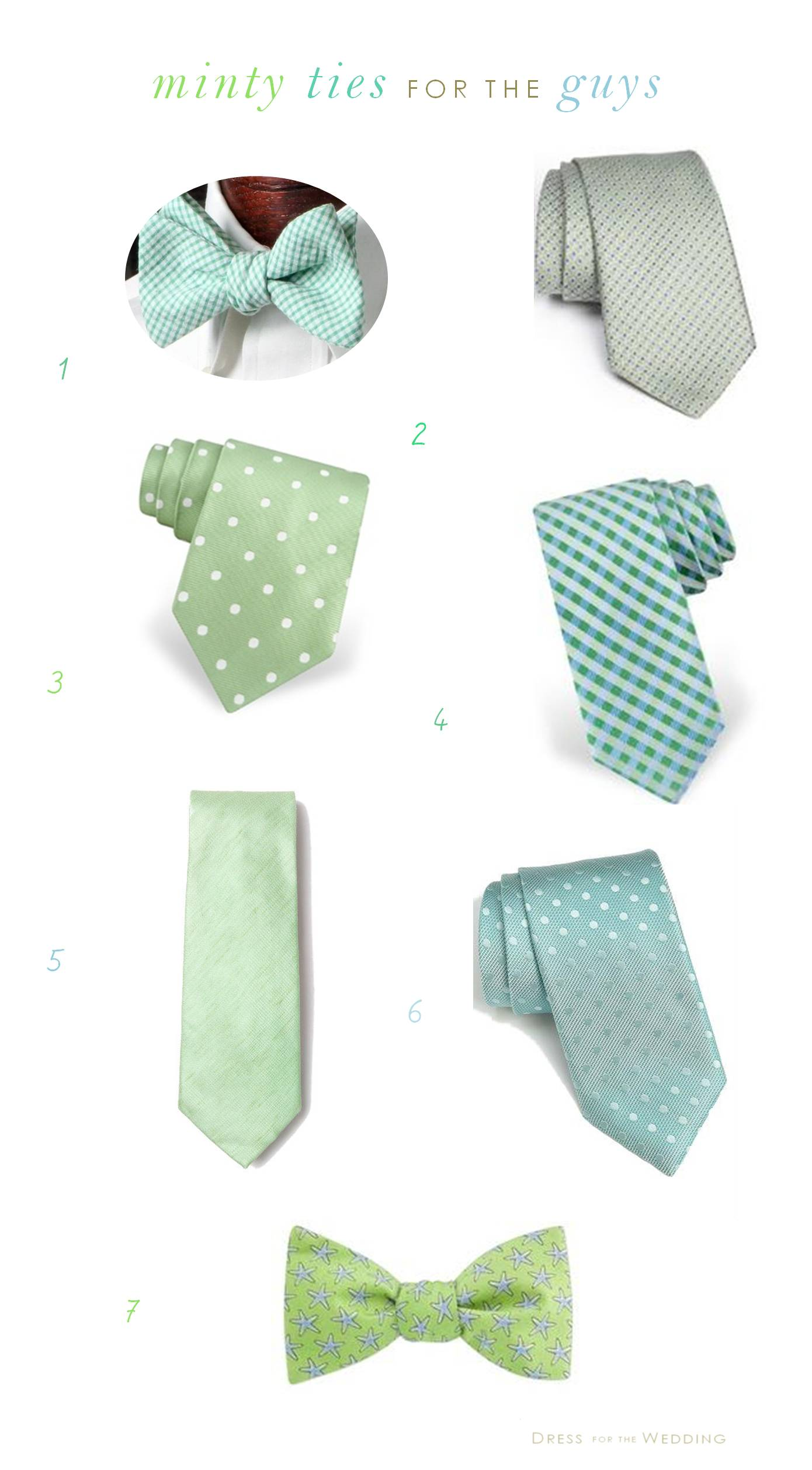 Mint Ties for Weddings for Groomsmen