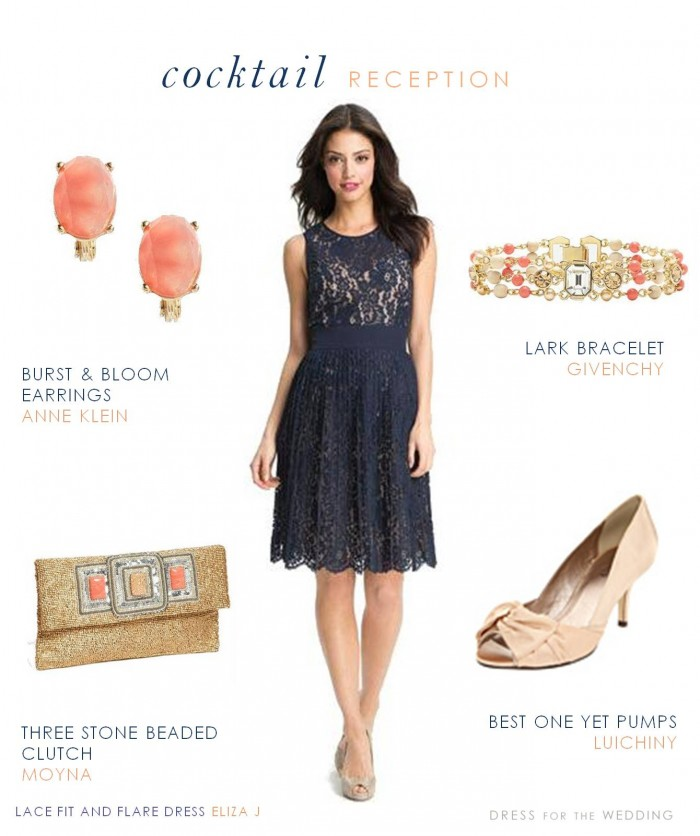 Captivating Navy Lace Dress