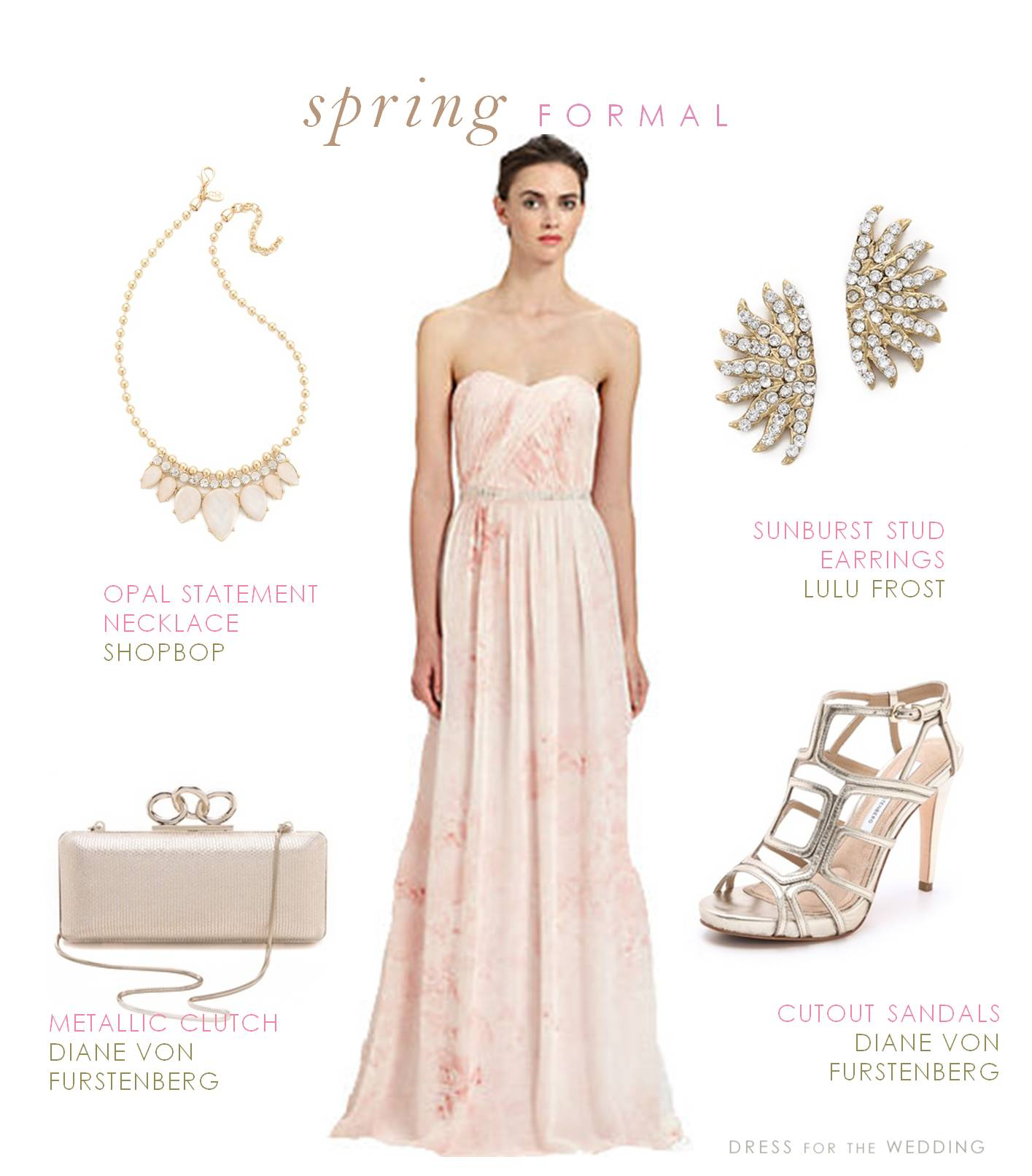 Pink strapless chiffon gown for Dresses to go to a wedding