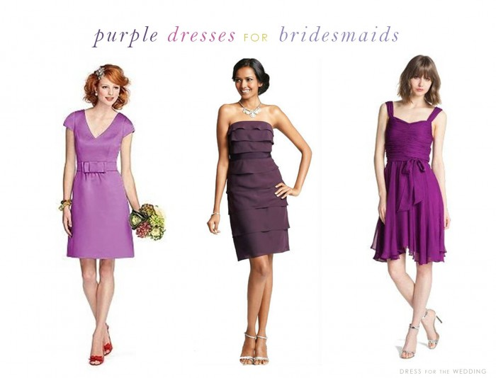 Purple Dresses for Bridesmaids