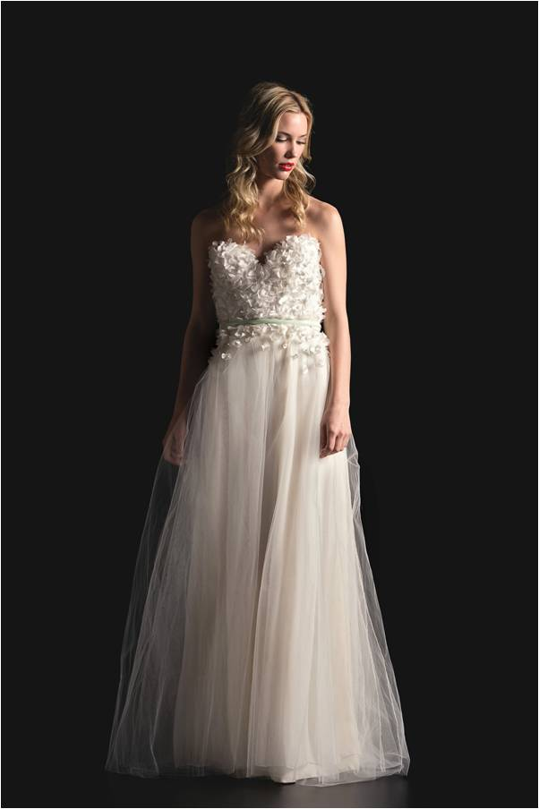 Sarah Seven Spring 2014 Strapless Wedding Dress