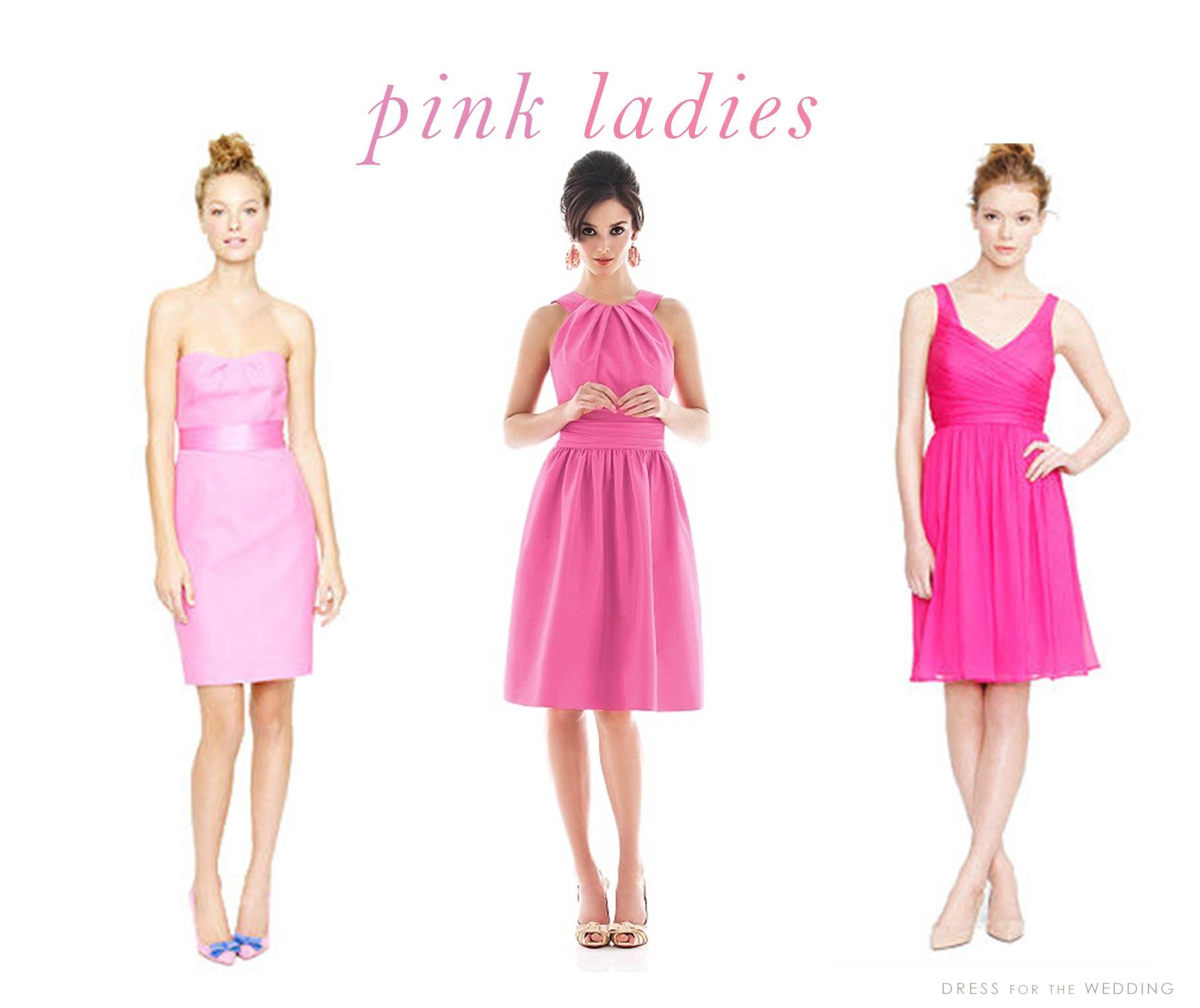 Pink bridesmaid dresses for Pink wedding dress short