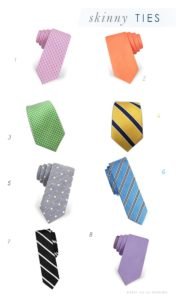 Skinny Ties for Weddings