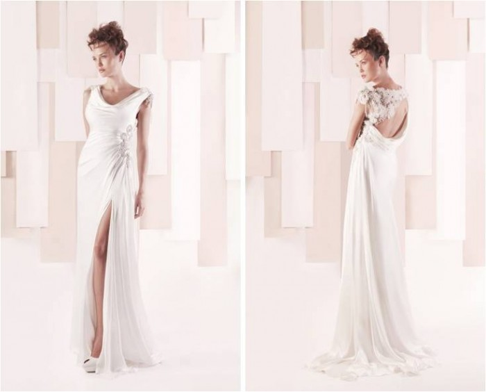 Sleek Wedding Dress by Gemy Maalouf