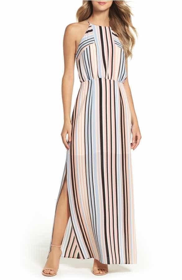 Striped Maxi Dress Under 150