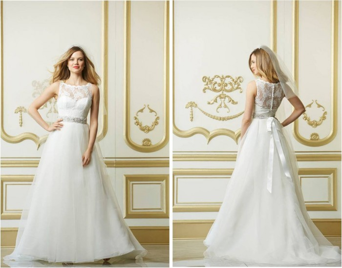 Wtoo Cordelia Lace Wedding Dress 11318 front and back