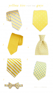 Yellow Ties for a Wedding