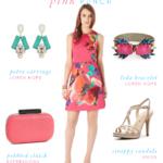 hot pink floral dress
