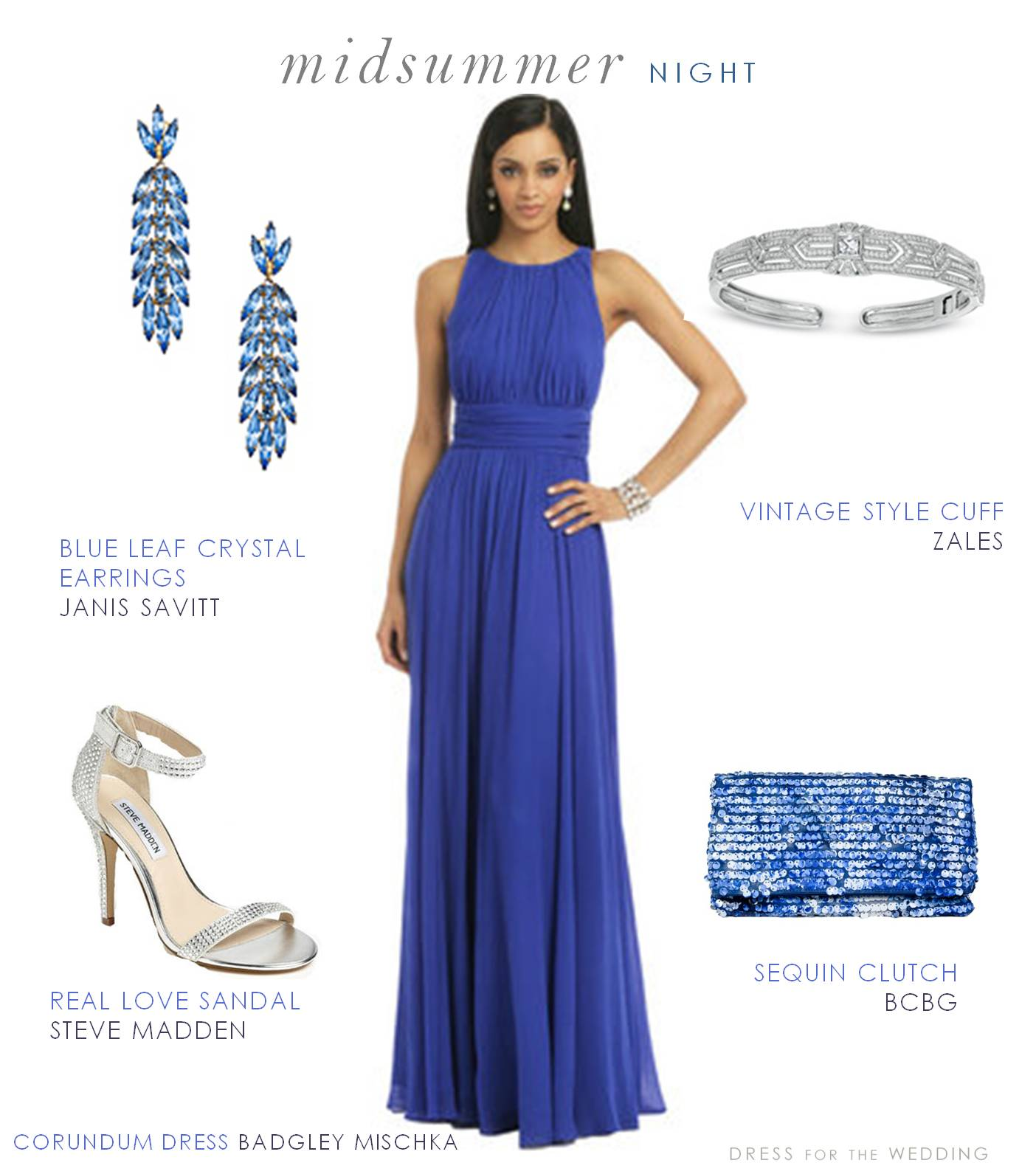 Blue guest of wedding dresses