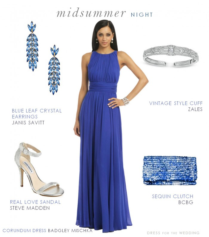 Blue Formal Dress or Gown