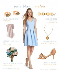 Blue and Melon Wedding Colors