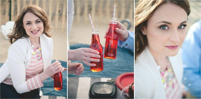 Bring color into your engagement photos Bit of Ivory